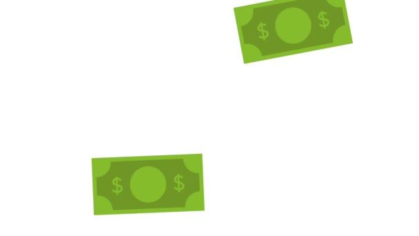 bills rain money animation
