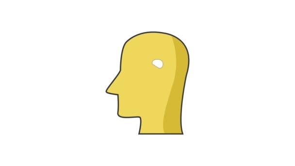 Emberi agy, a fej silhouette Hd felbontású