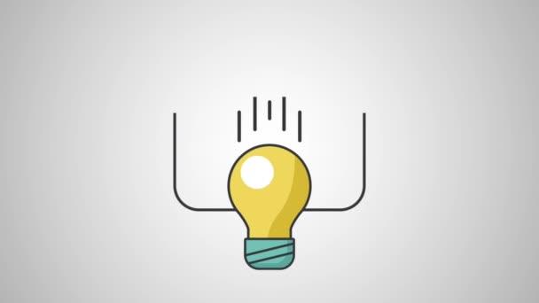Žárovka s puzzle a zařízení Hd rozlišení