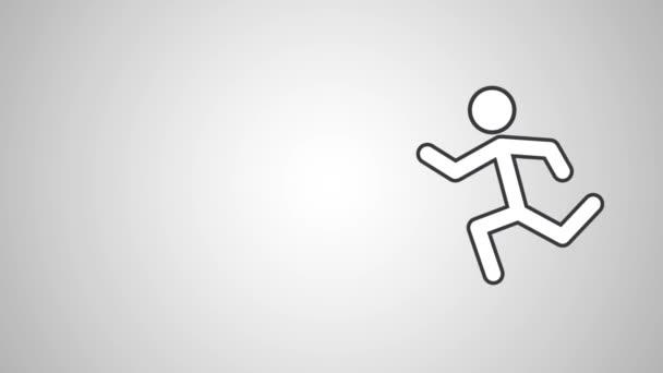 Pánské běh piktogram Hd definice