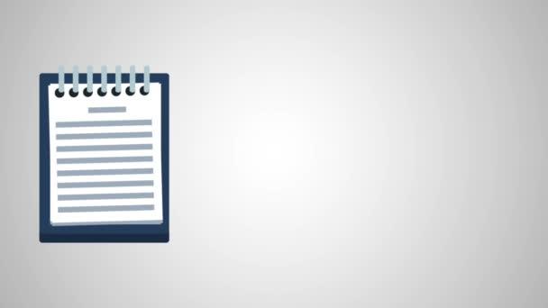 A dokumentum lapok board Hd animáció