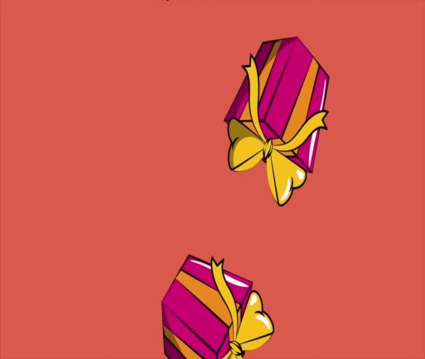 Scatole regalo pop art cadendo definizione Hd