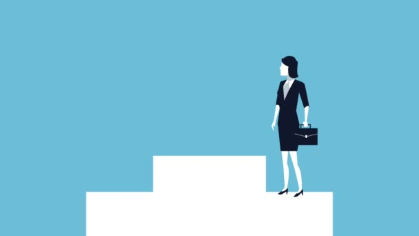 successful business people in podium avatars