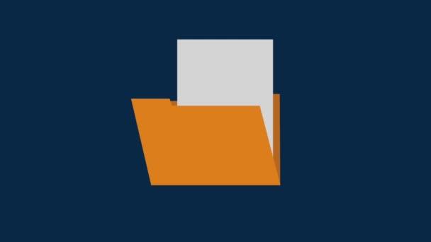Documents into folder HD animation