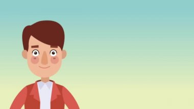 Businessman talking about money HD animation