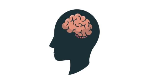 Emberi fej sziluett, agy