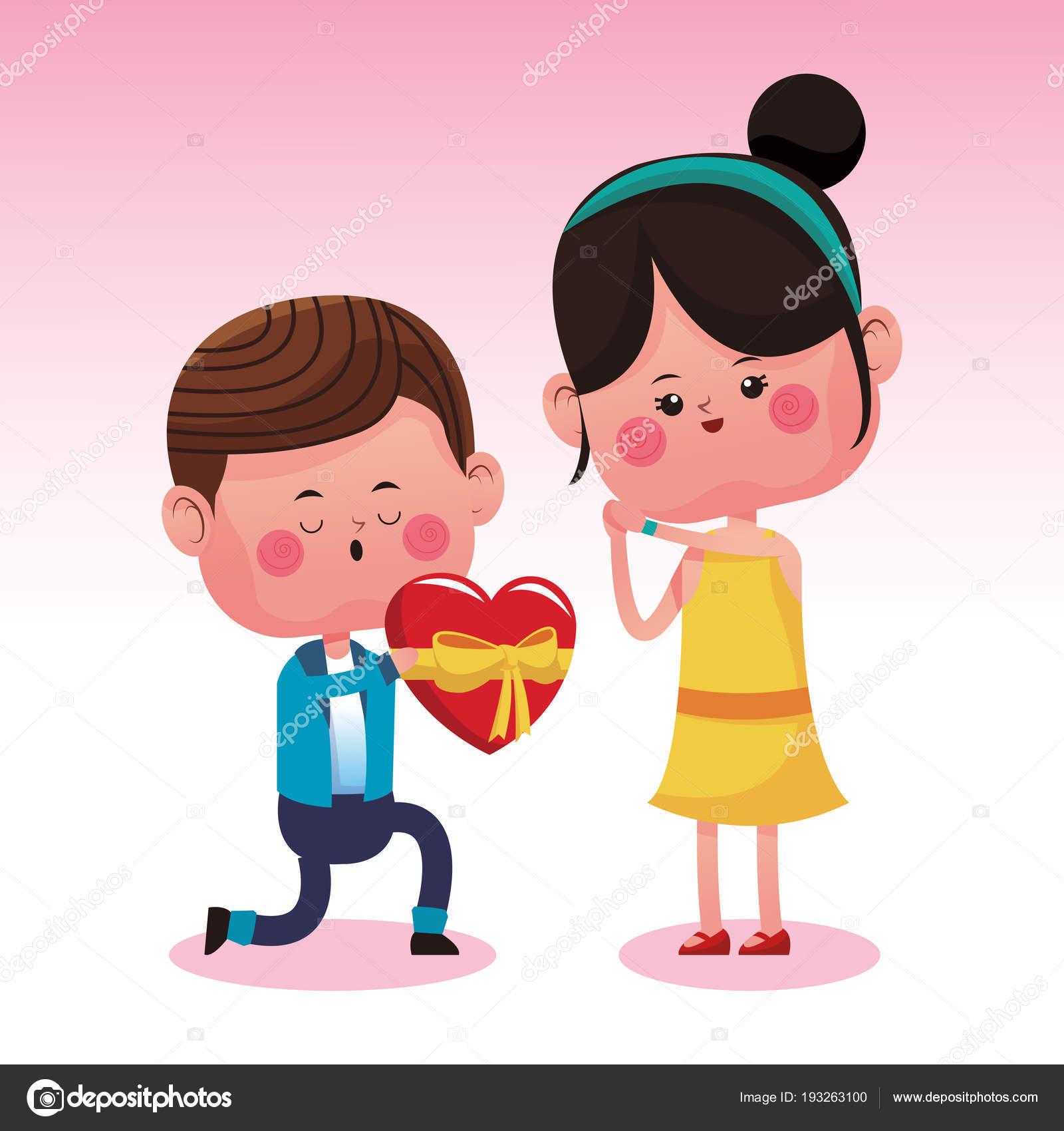 Cute Couple In Love Cartoons Stock Vector C Jemastock 193263100