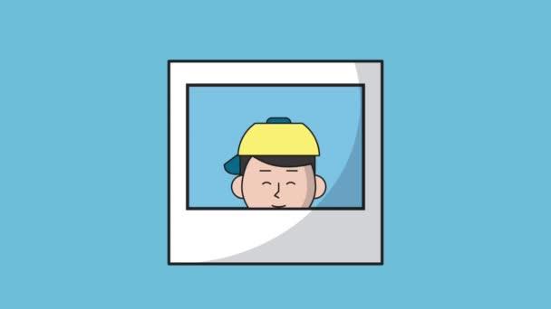 Sofortbild mit jungen sprechen HD-animation