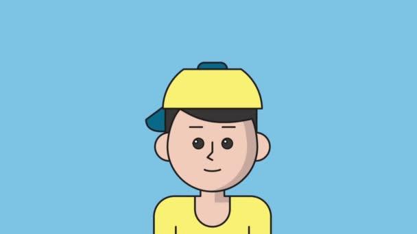 Junge Eltern mit Sohn Cartoon HD-animation