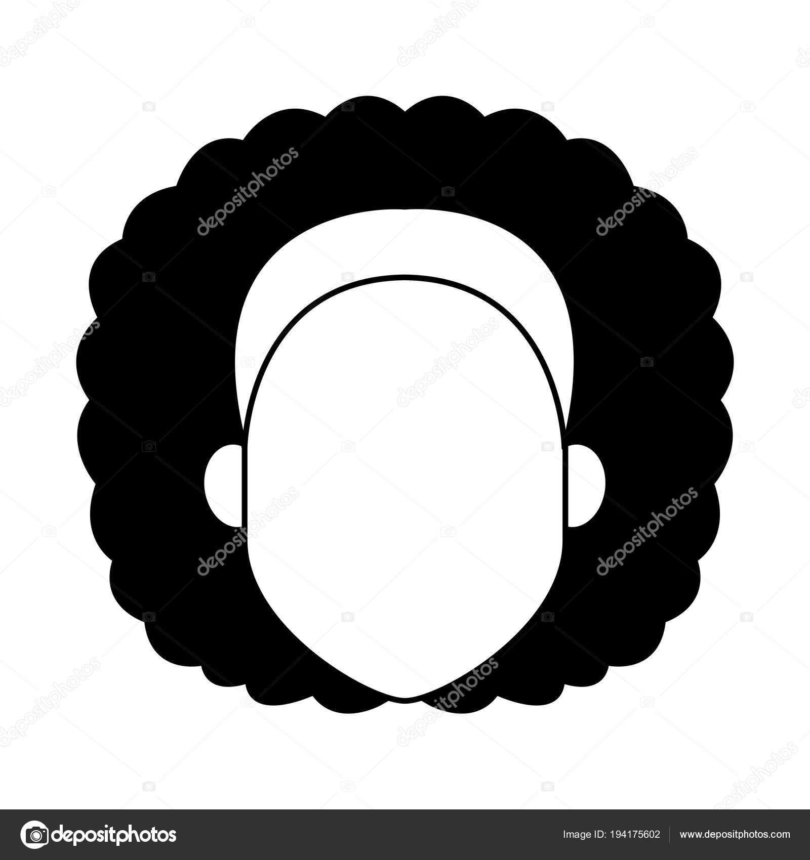 Femme Sans Visage Dessin Animé Noir Et Blanc Image Vectorielle