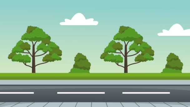 Mens driving sport cart HD animation