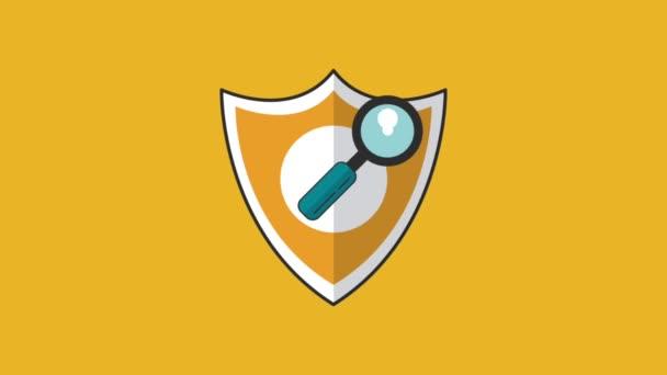 Vírusölő biztonság rendszer Hd animáció