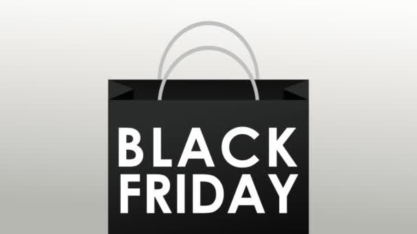 Fekete péntek bevásárló táska Hd animáció