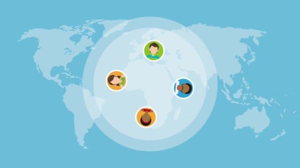 Lidé po celém světě Hd animaci