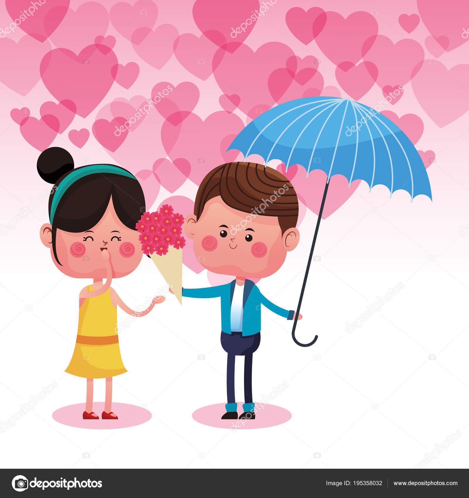 Cute Couple In Love Cartoons Stock Vector C Jemastock 195358032