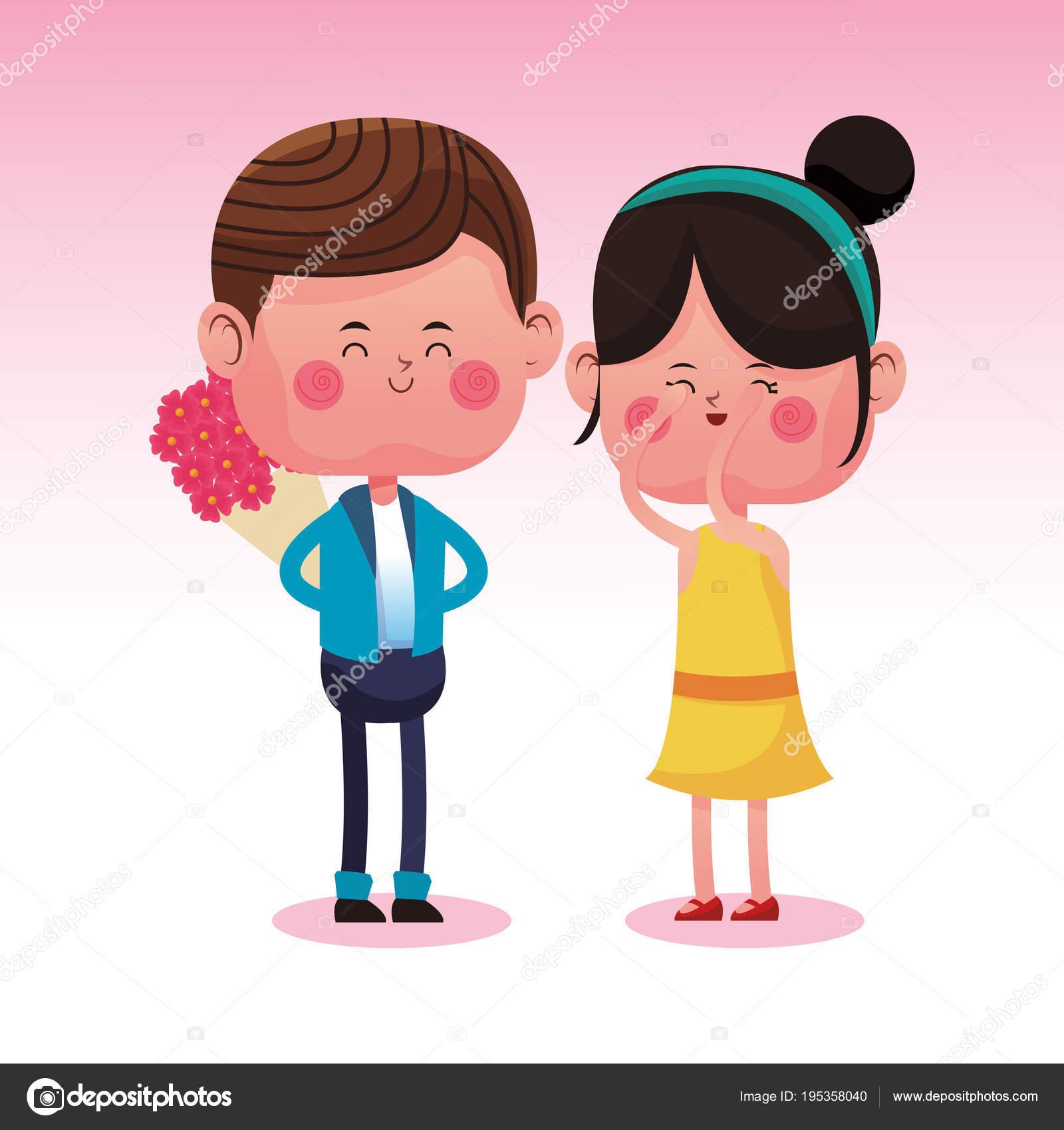 Cute Couple In Love Cartoons Stock Vector C Jemastock 195358040