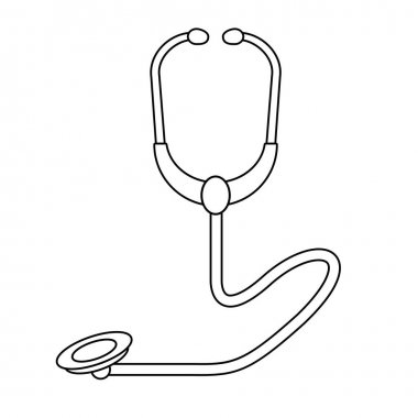 medical heatlh medicine care cartoon in black and white