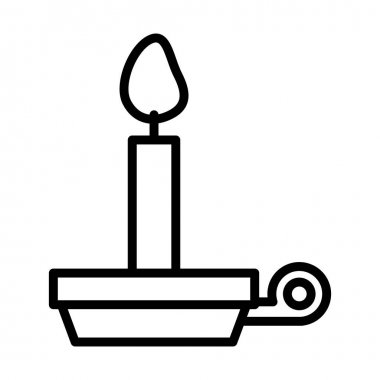 candle fire flame line style icon