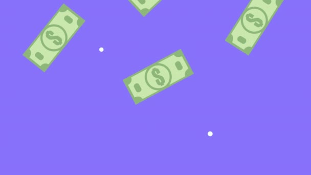 bills money dollars pattern animation
