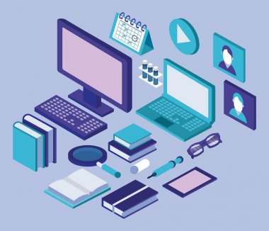 desktop and laptop education online tech