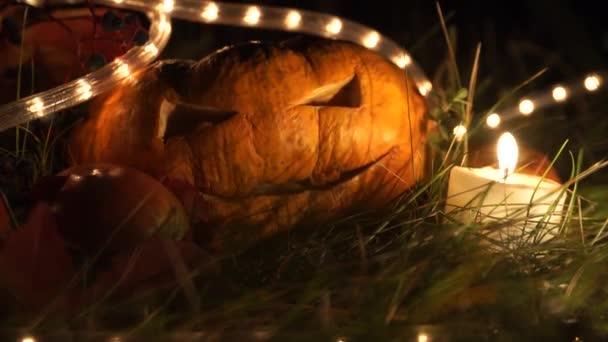 Zátiší s dýně na Halloween