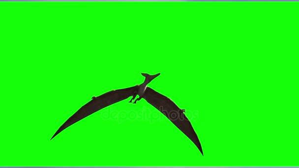 repülő dinoszaurusz 3d render egy zöld háttér