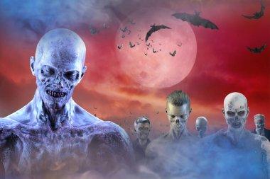 zombie background on Halloween
