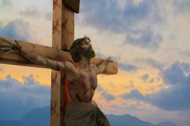3D Illustration of Jesus Christ on the cross