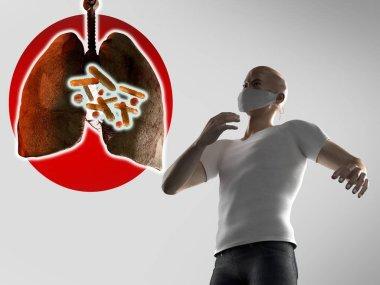 pneumonia China coronavirus concept, 3d render