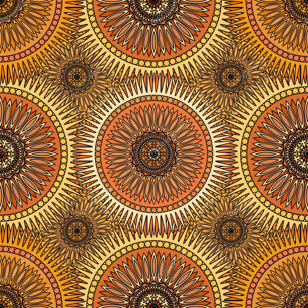 Asiatische Tapete goldene musterdesign mit orientalische mandalas islam arabische