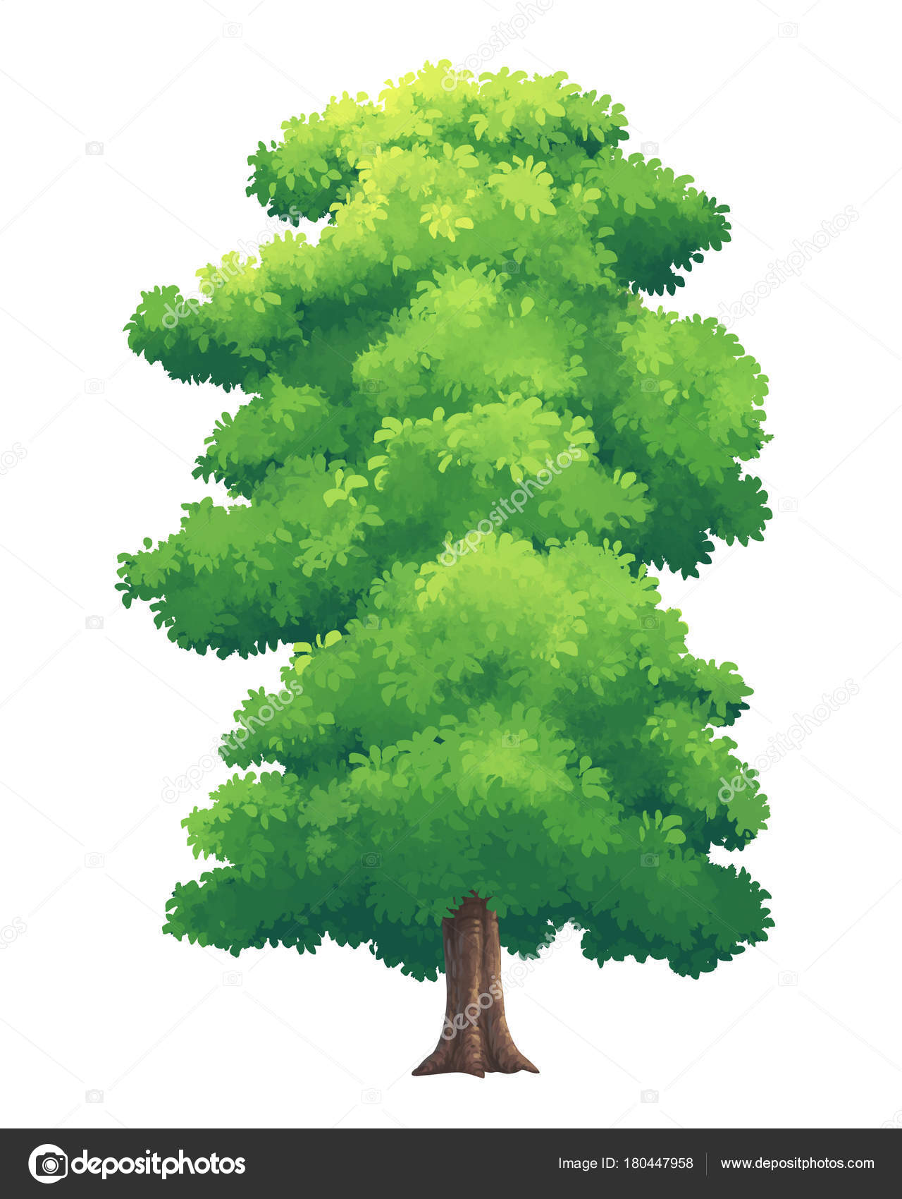 Illustration of trees bright colors — Stock Photo © jamesjoong ...