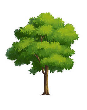Tree for cartoon isolated on white background stock vector