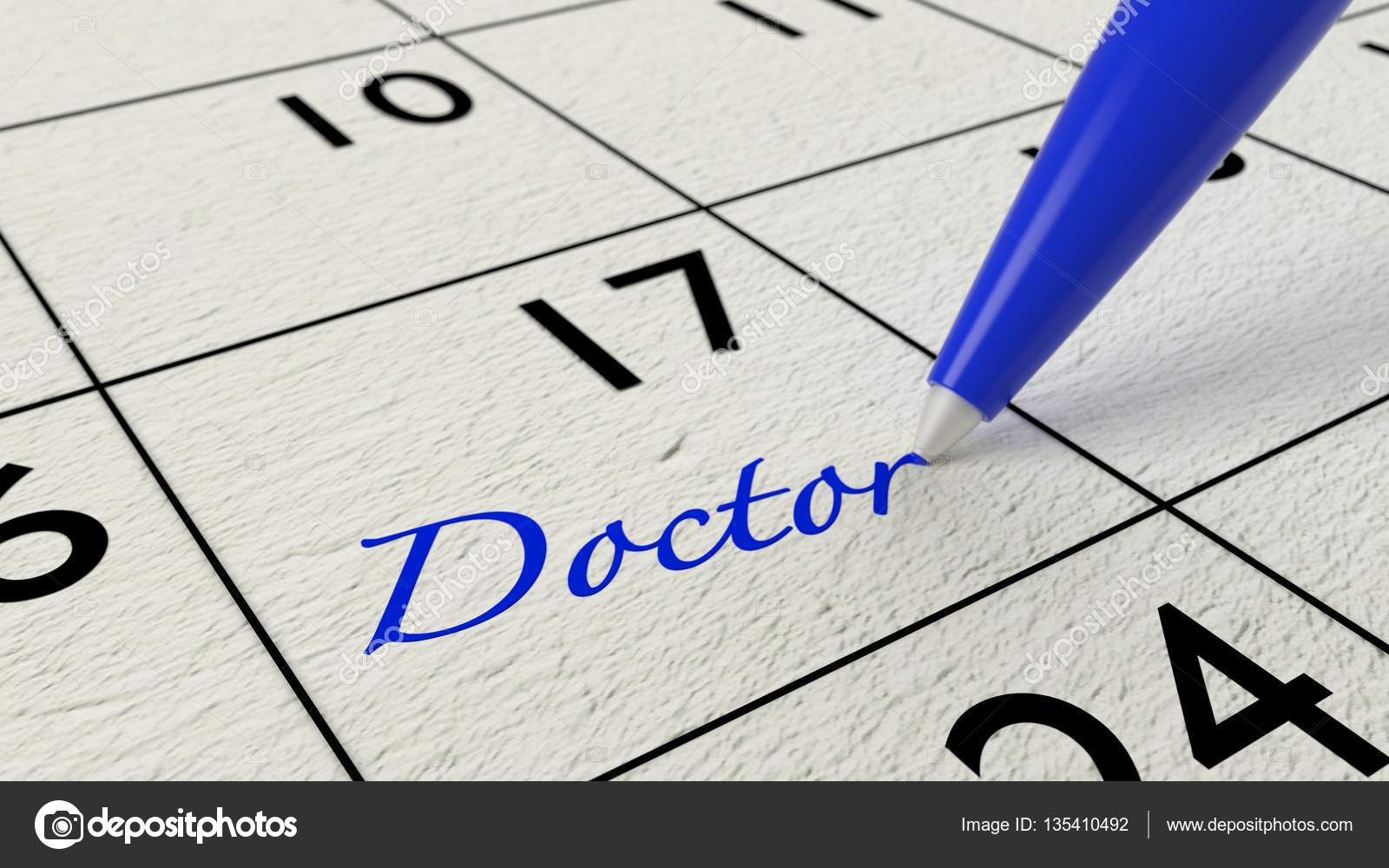 Doctor Paper Calendar Entry And Blue Pen Stock Photo C Beebright