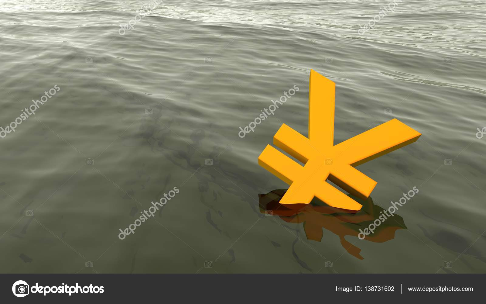 Chinese yuan drowning in the ocean economy crisis concept stock chinese yuan drowning in the ocean economy crisis concept 3d illustration photo by beebright buycottarizona Gallery