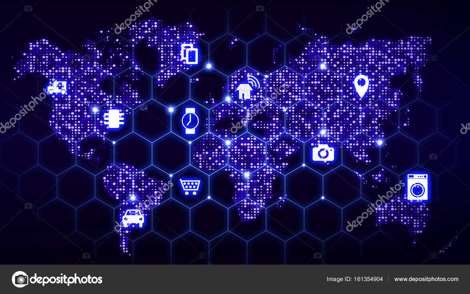 Iot world map hexagon grid internet of things concept stock photo iot world map hexagon grid internet of things concept stock photo gumiabroncs Image collections