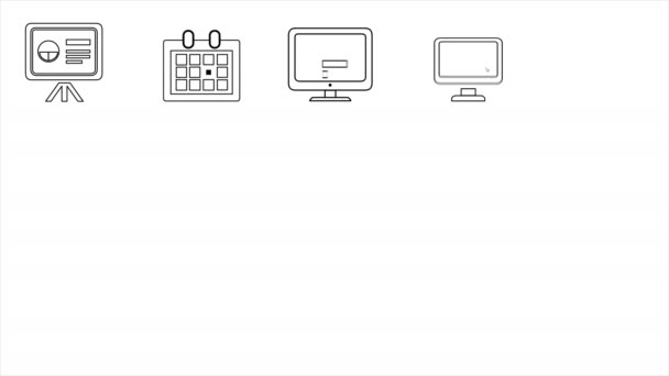 Business and Startup Line Icons. 4K