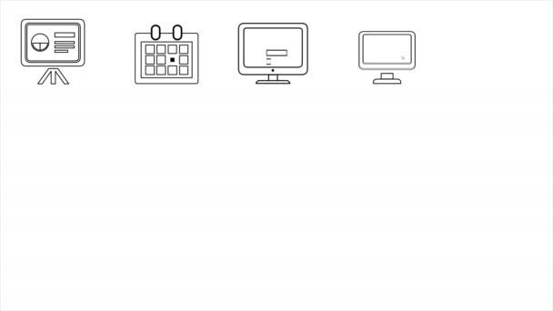 Business- und Startup-Line-Symbole. 4k