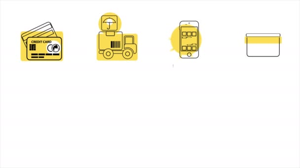 Business and Sales Line Icons. 4K