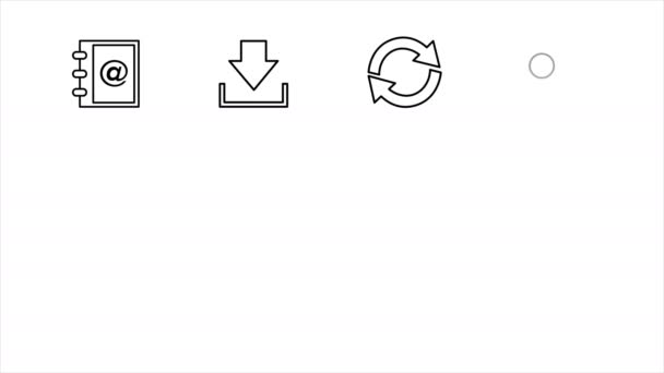 Business and Office Line Icons. 4K