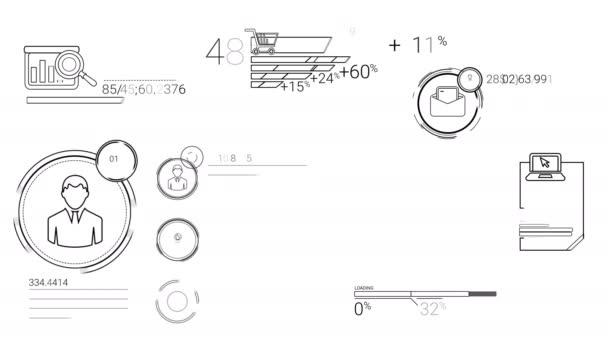 Infografika prvky ve stylu čáry