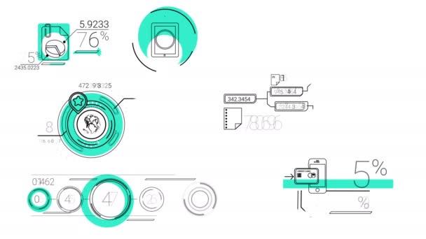 infografische Elemente im Linienstil. Blauer Fleck