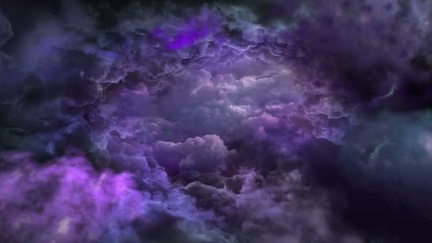 Sötét ég lila hangok