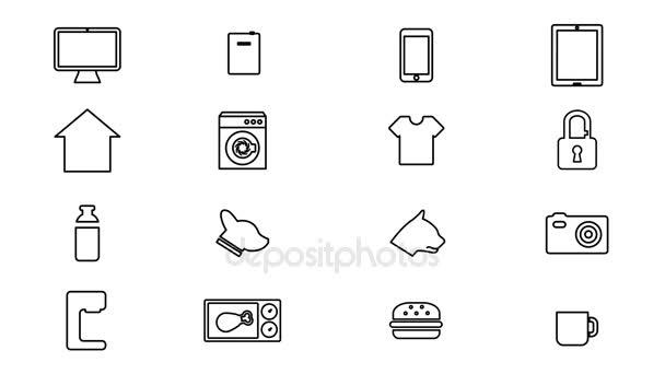 Internet věcí a Smart Home ikon. 4k