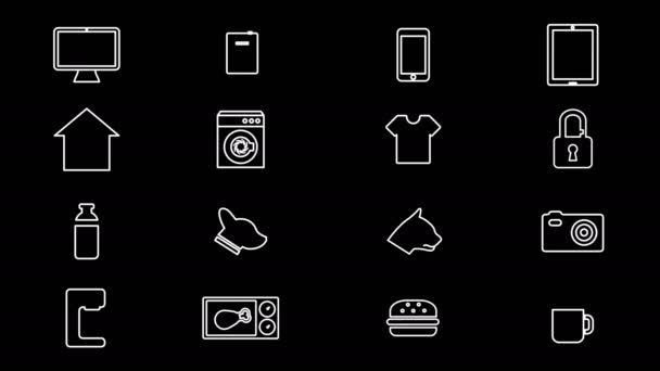 Internet der Dinge und Smart Home Icons. 4k