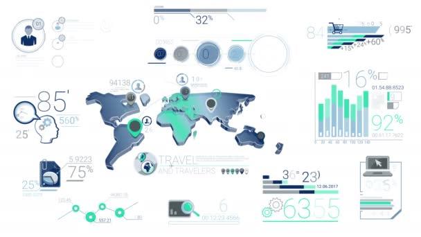 Modré firemní infografika prvky
