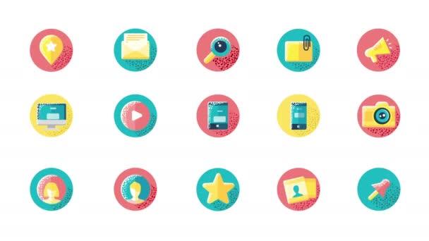 Symbole der sozialen Medien
