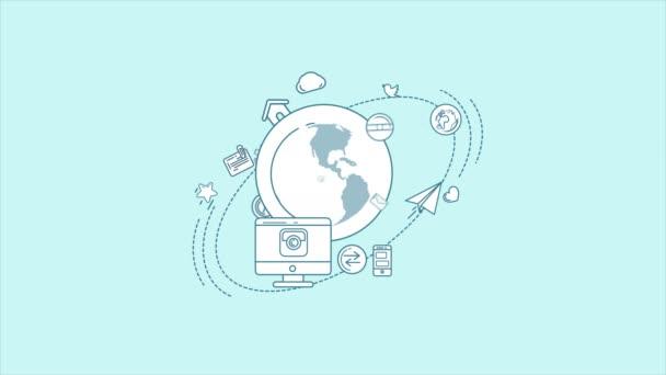 Globalen digitalen Welt Infografik