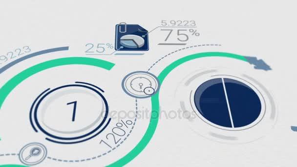 Unternehmenshintergrund mit Elementen der Infografik