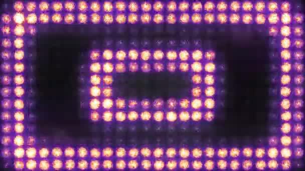 Négyzet alakú impulzus villogó fény fal