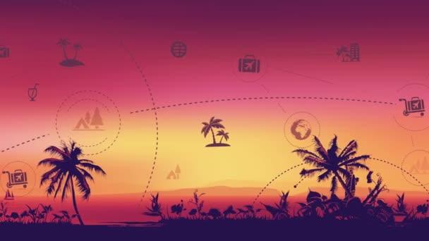 Cestování a cestovní ruch mezník pozadí